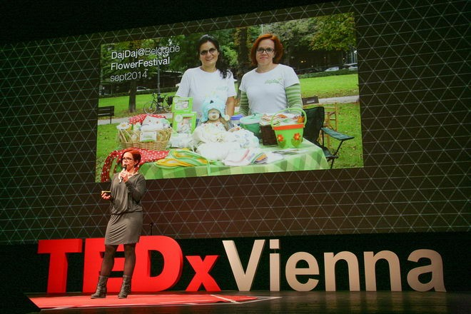 Sonja na TEDx-u drži motivacioni govor