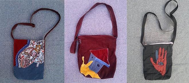 Za Danicu je šivenje torbi jedan vid slikanja, u ovom slučaju tkaninom i koncem