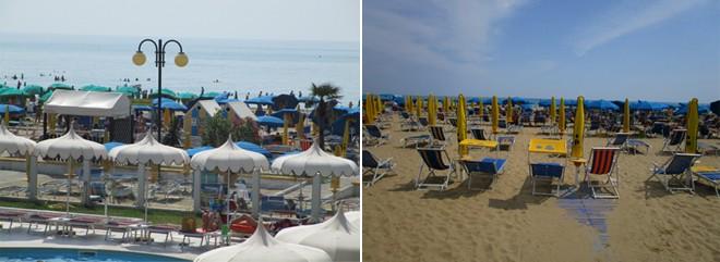 Cela plaža ima iste ležaljke i suncobrane