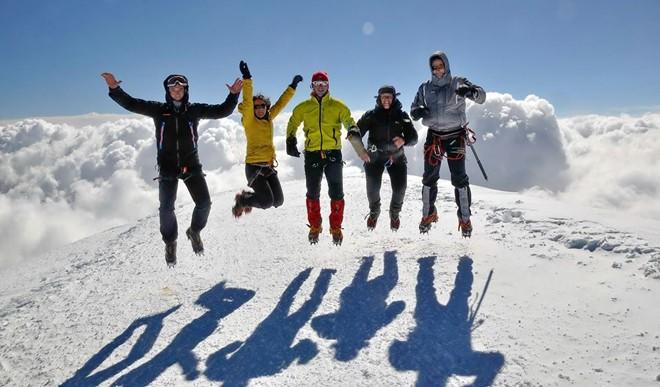 Na vrhu Mon Blan 4808 m nv