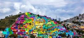 Najlepša antistres mesta na svetu MEKSIČKI UMETNICI OD SIVOG GRADA NAPRAVILI ŠARENI MURAL