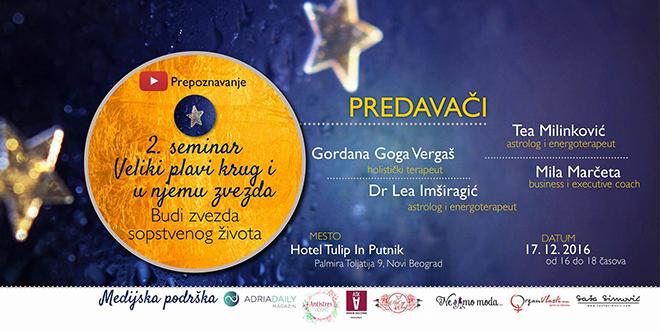 Seminar Veliki plavi krug i u njemu zvezda – budi zvezda sopstvenog života