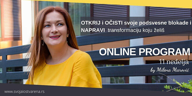 Grupni online program Napravi TRANSFORMACIJU